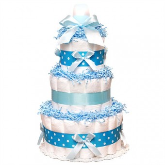 "Торт из памперсов ""Blue"""