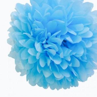 "Бумажный помпон ""Baby Blue"""