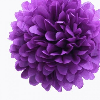 """Бумажный помпон """"Royal Purple"""""""